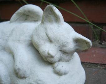 Cat Angel Statue, Pet Cat Memorial, Concrete Cat Statues, Cement Cat Figure, Pet Memorial Headstones, Cat Angels, Statues Of Cats