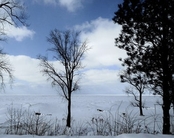 LAKE MICHIGAN WINTER--Lake Michigan, Beach Photography, Michigan Photography, Winter Landscape, Snow Scene, Winter Scene, Beach in Winter