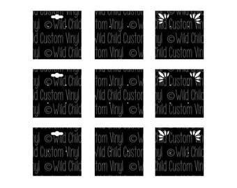 Square Earring Display Cards SVG, Square Shape SVG, Earring Cards SVG, Earring Display svg, Earring cards, Earring display cards svg
