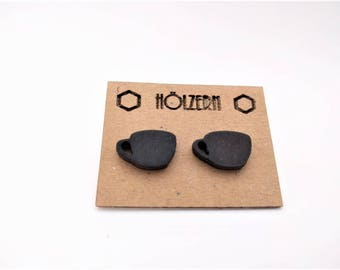 Black Earings coffee cup earrings