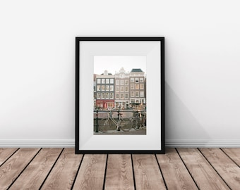 Amsterdam / Bicycle / Print Download / Instant Download / Film / Digital Download / Bike / Instant / Europe / Travel / Gift / Traveller
