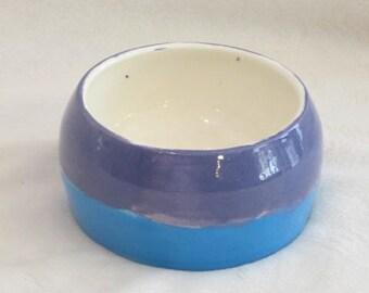 Blue and purple Trinket bowl