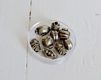 DESTASH - Pewter Bead Mix - Various Shapes - Sale - Clearance Beads