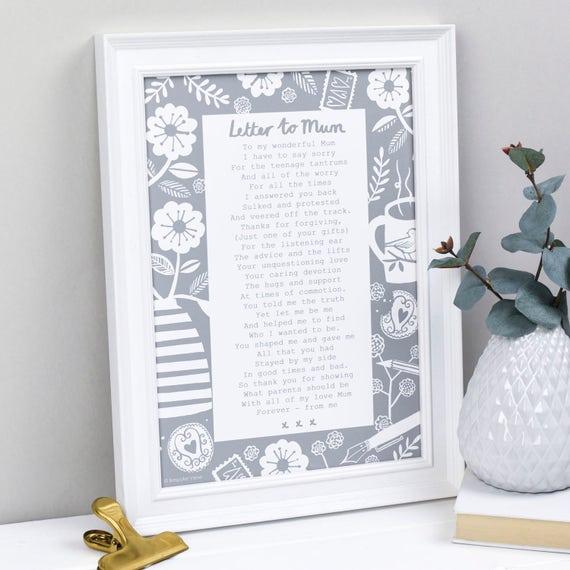 geschenk f r mutter muttertag gedicht mama gedicht brief. Black Bedroom Furniture Sets. Home Design Ideas