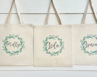 Bridesmaid Bags, Bridesmaid Tote Bags,Bridesmaid Bag,Wedding Tote Bags, Bridal Party Gifts,Bride,Wedding Gift, Custom Tote Bag,Bachlorette