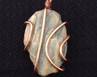 Copper Wrapped Found Object Pendant