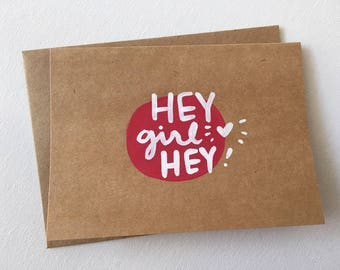 "4""x6"" Greeting Cards blank inside, you are loved, you are awesome, hello, you rock, hey there, hey girl hey"