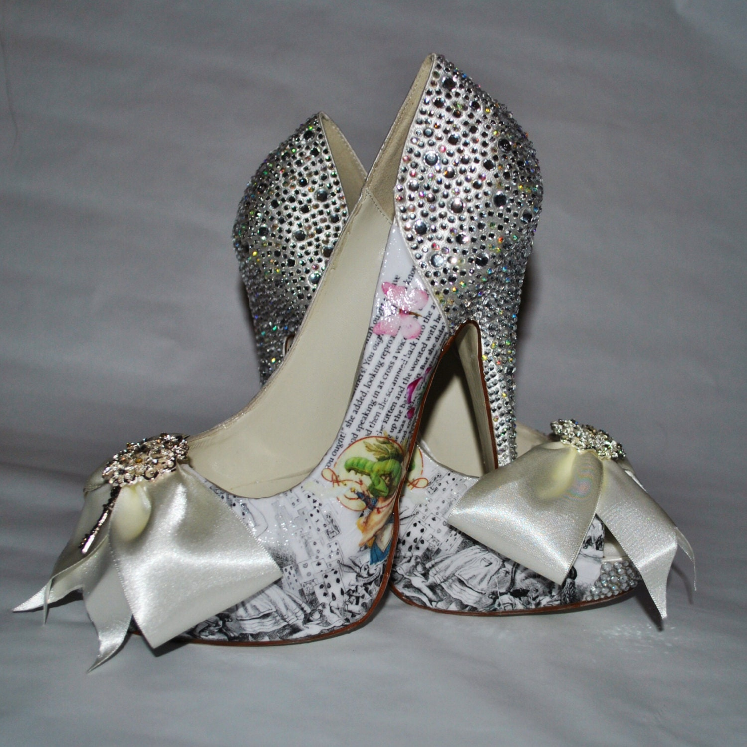 Custom Made Bridal Shoes Uk: Alice In Wonderland Wedding Shoes Handmade Inspired By The