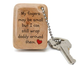 Personalized keychain for dad, Custom gift for dad - Quote keychain for him
