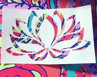 Lotus Flower Decal - Namaste - Yoga Decal