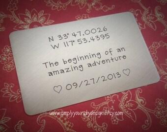Wallet Card - Metal Wallet Card - Custom Wallet Insert - Men's Anniversary Gift - Husband Valentine Present - Men's Present - Men Christmas