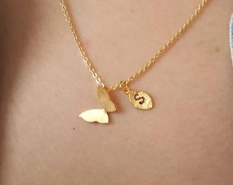 Butterfly necklace Etsy