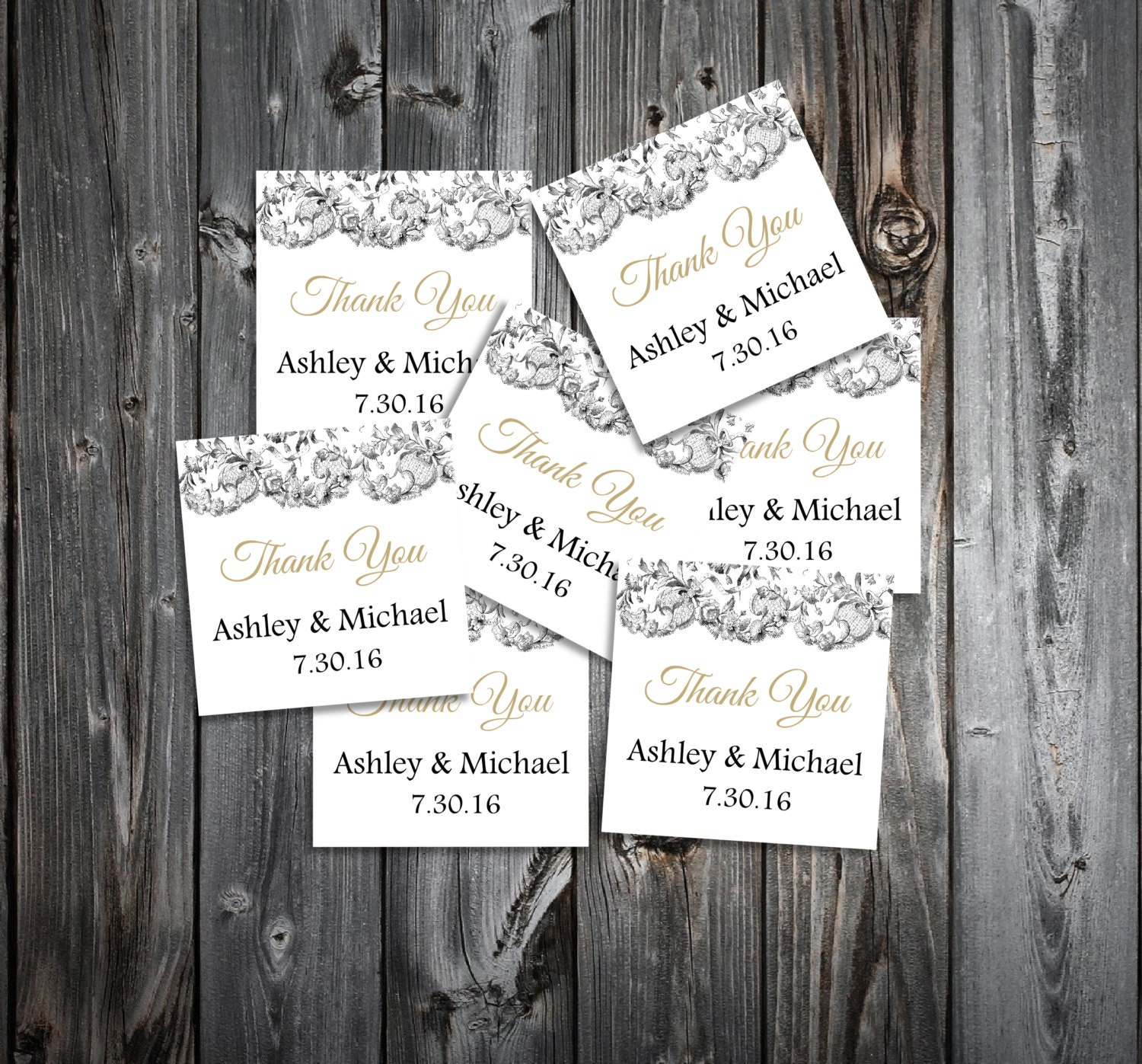 Lace and Burlap Rustic Theme 50 Wedding Favor Stickers. Personalized ...