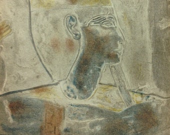 Egyptian head  2-Lithograph printed 1938 - Verve