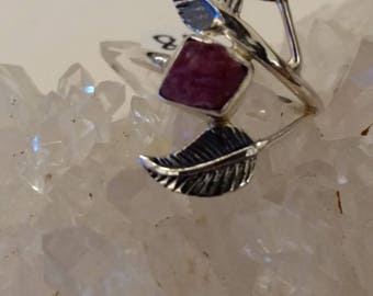 Beautiful Pink Tourmaline Ring, Size 8 1/2