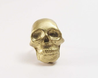 Tiny Gold Skull ring