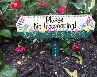 No poop sign, no trespooping