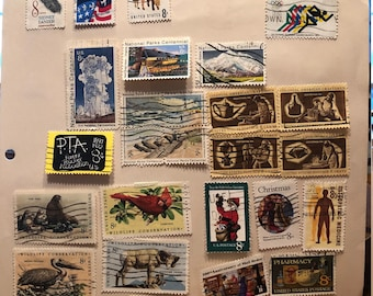 1972 and 73 used US hinged postage stamps