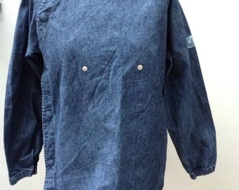 Girls Vintage French Denim Smock 12 years