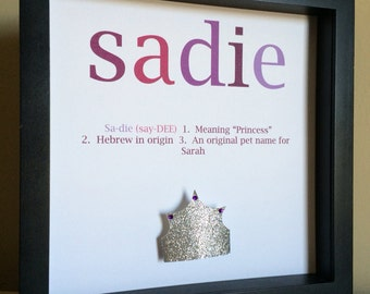 Name Meaning Art, Paper Art, Customize with your colors and theme
