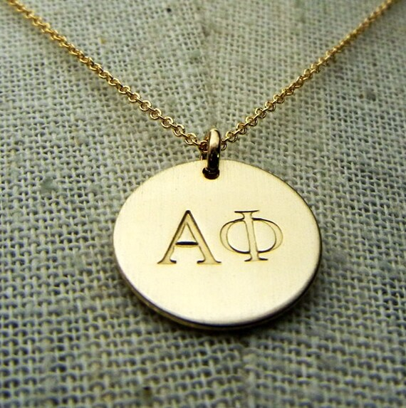 Alpha Phi Sorority Necklace Choose YOUR SORORITY Lavalier