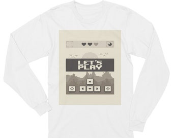 Retro Long Sleeve Video Game T-Shirt Winter Gamer Top