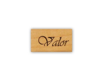 Valor mounted word rubber stamp military, support our troops USA Proud, Crazy Mountain Stamps No.4