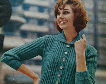Vintage Lee Target Ladiy's Cardigan Knitting Pattern - Design No. 5947