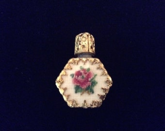 Vintage Austrian Petit Point Perfume Bottle