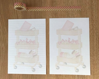 Planner Trolley Snail Mail Pen Pal Writing Paper