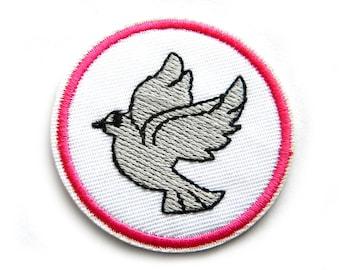 Peace Dove Embroidered Patch Appliqué