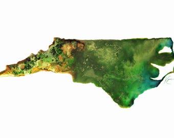North Carolina Topography Print