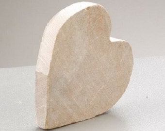 """Soapstone blank """"Heart"""" for editing and individualization"""