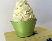 Pearlescent Green Cupcake Wrappers - Celery Green, Light Green