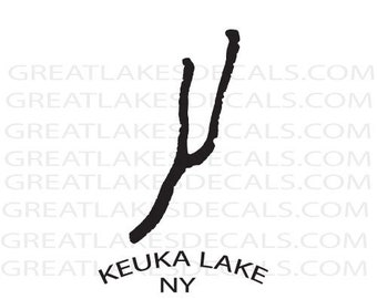 Keuka Lake NY Vinyl Decal Sticker