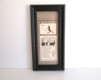 Vintage Framed Flash Card Sing Vintage Music Book Page Black Frame Home Decor Children
