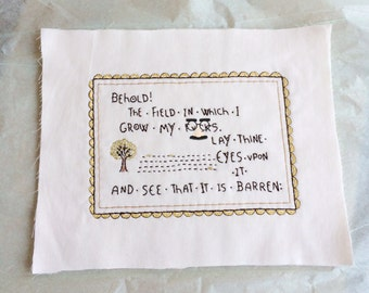 MADE TO ORDER Behold the Field Embroidery