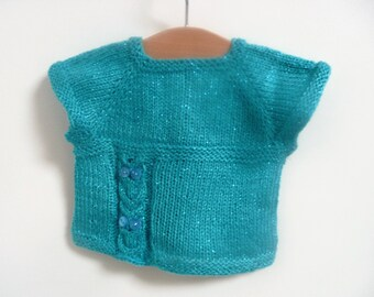 Knitting PATTERN Seamless Top Down Sweater Jumper Tunic - Tylluan Tunic Top ( 6 sizes to fit 0 - 7 yrs)