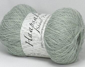 100% Wool Light Gray Yarn Haapsalu Shawl Yarn