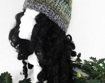 Woodland Elf Hat  Hand Crochet Winter Hat