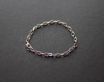 Silver Bangle Bracelet, lobster clasp