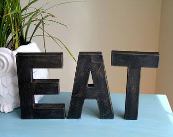 """8"""" EAT Vintage Farmhouse Letters. Custom Kitchen Decor"""