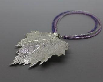 Silver Birch Leaf Ornament