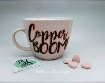 Copper BOOM! Big Mug | Ballet Pink | Rose Gold | Shimmer | Custom Mug | 16 Ounces | Dual-Layer Vinyl DECAL | Gorgeous Pink | Gilmore Girls
