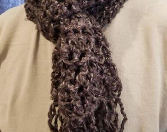 Hand-crocheted scarf