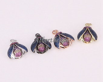 AZYZ191-9408 Colorful CZ Pave Insect Pendant Metal Plated For Women Fashion Necklace Pendant