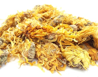 Dried Calendula, Marigold 100g Dried, Rabbit Treat, Reptile, Chinchilla, Tortoise Food Supplies, Degu, Guinea Pig, Hamster, Dried Flowers
