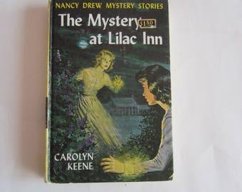 Nancy Drew The Mystery at Lilac Inn, Nancy Drew Number 4, Nancy Drew vintage book, 1970s Nancy Drew book, Nancy Drew mystery