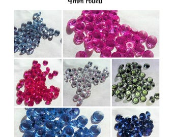 Lab created Gemstones- 4mm round (select color)