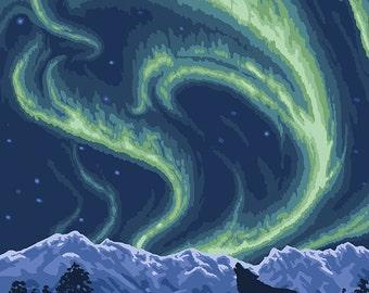 Watson Lake, Yukon - Northern Lights (Art Prints available in multiple sizes)